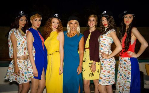 Martina Spiteri along side designer Palvi & models